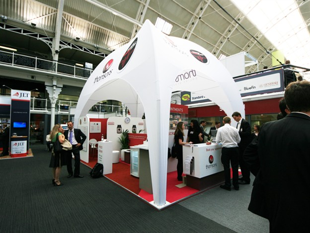 Fabric Exhibition Stand Examples : Paloma rectangular indoor dome