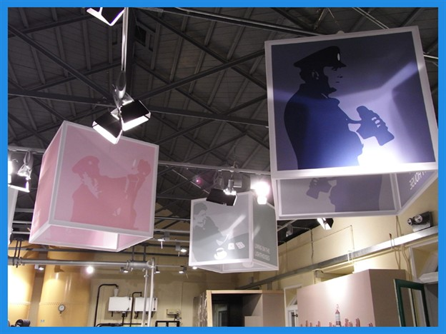 Fabric Exhibition Stand Examples : Marlin suspended cube