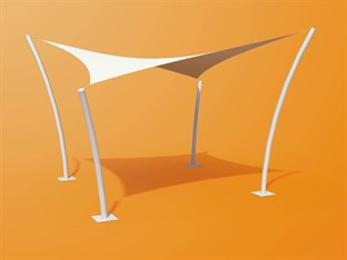 Exterior Sunshade Fabric Structure Products