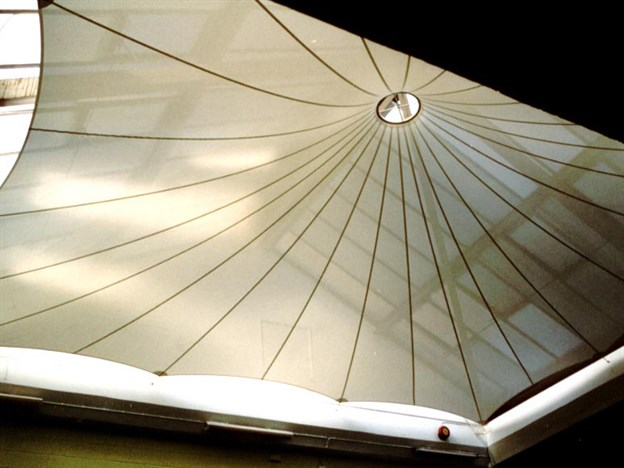 Interior Fabric Sun Shade Structure