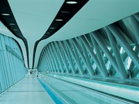 Acoustic Fabric Ceiling, Gatwick Link Bridge