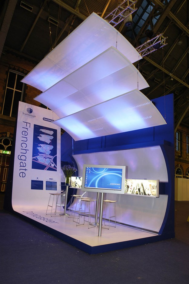 Exhibition Illuminated Screens Lit Fabric Canopies