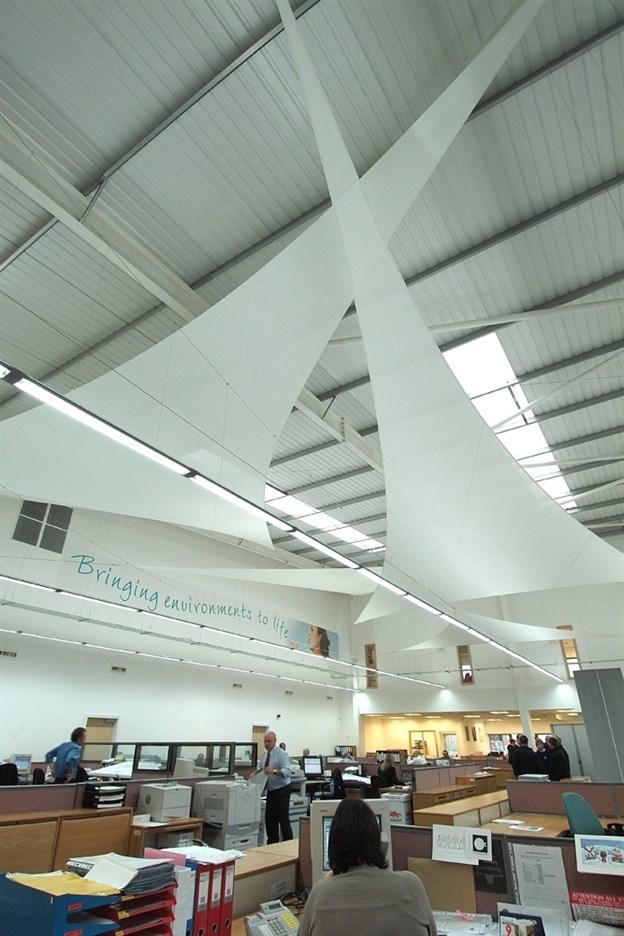 Spanning Fabric Sails Office Screening Canopies Inviron