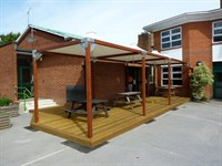Outdoor Dining Canopy, Sacred Heart School, London