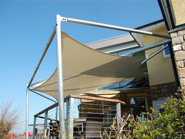 Example Custom Canopy for a Smoking Area