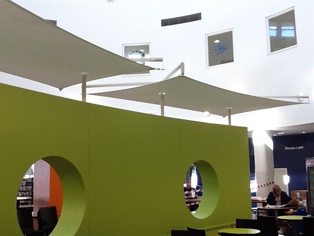 Feature Canopies, Stoke Mandeville Hospital