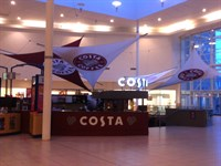 Branded Sails and Signage, Costa Coffee