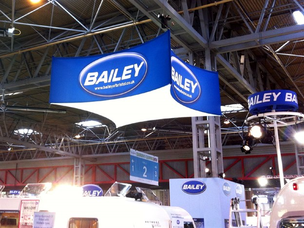 Branded Exhibition Stand, Bailey Caravans