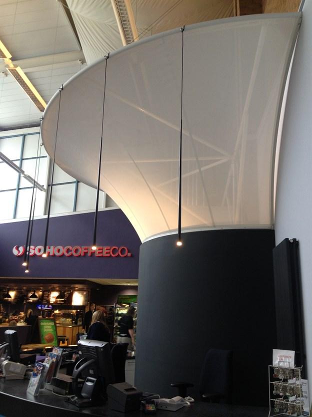 Reception Canopy Fabric Feature Soho Coffee