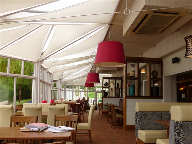 Pub Shade Sails, The Riverside Inn, Northwich