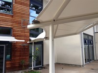 Walkway Canopy, Larmenier and Sacred Heart School
