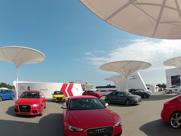 Audi Exhibition Stand, Goodwood FOS 2014