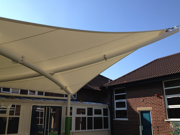 Outdoor Teaching Space Courtyard Canopy Oasis Academy