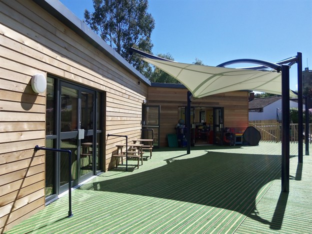 School Shade Canopy, Chew Magna School
