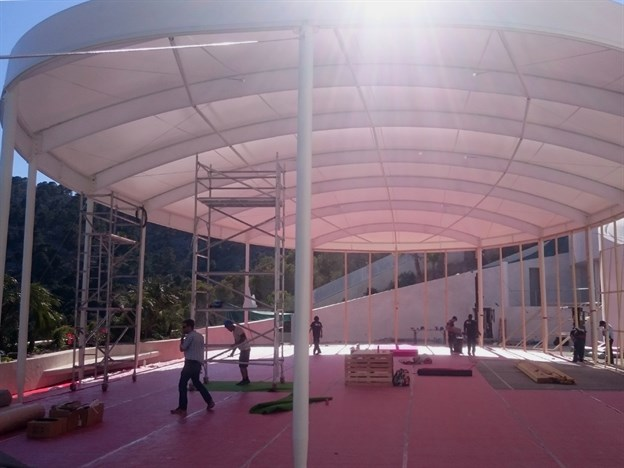 Large Outdoor Event Structure