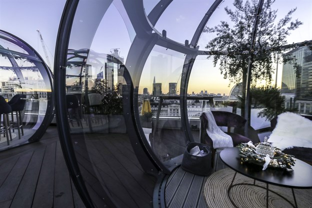Dining Pods,  The Aviary, London