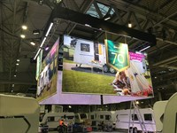 Printed Exhibition Banners, Bailey Caravans at the NEC