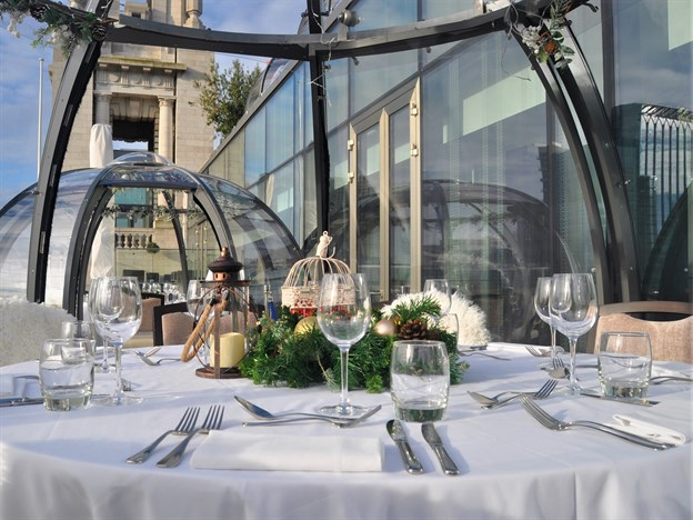 Rooftop Pod or Dome Dining