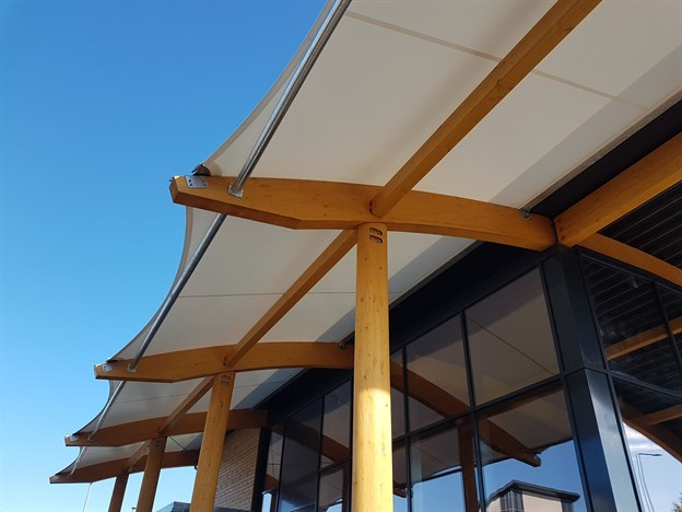 Costa Coffee, Fabric Roof